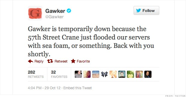 gawker tweet hurricane sandy