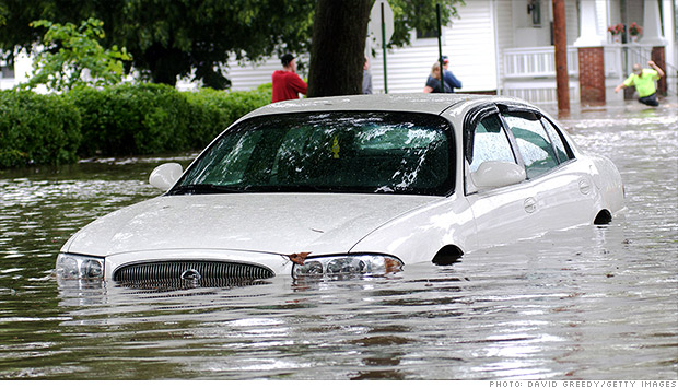 car flooded