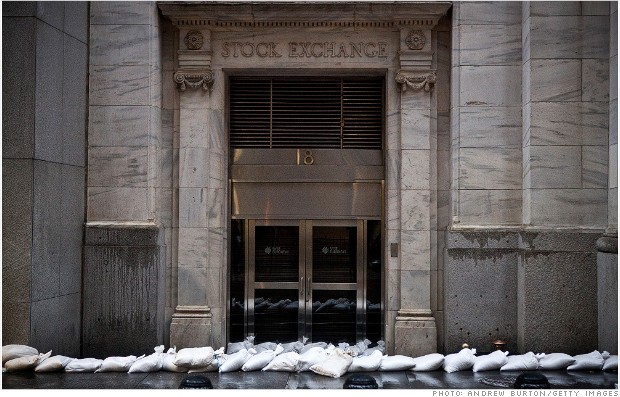 stock exchange closed tuesday sandy