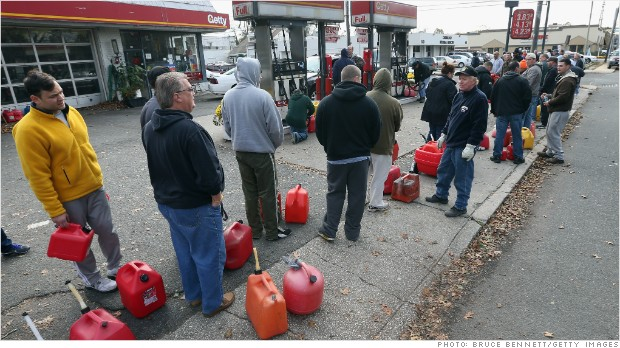 Sandy gas lines
