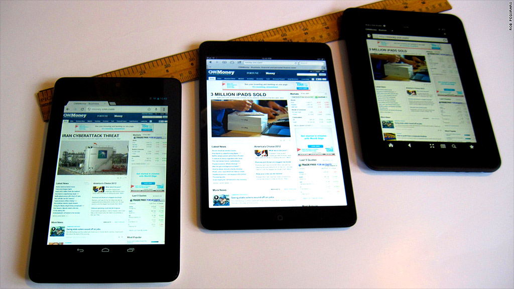 Apple Ipad Vs Kindle: Tablet Showdown: IPad Mini Vs. Nexus 7 Vs Kindle Fire HD