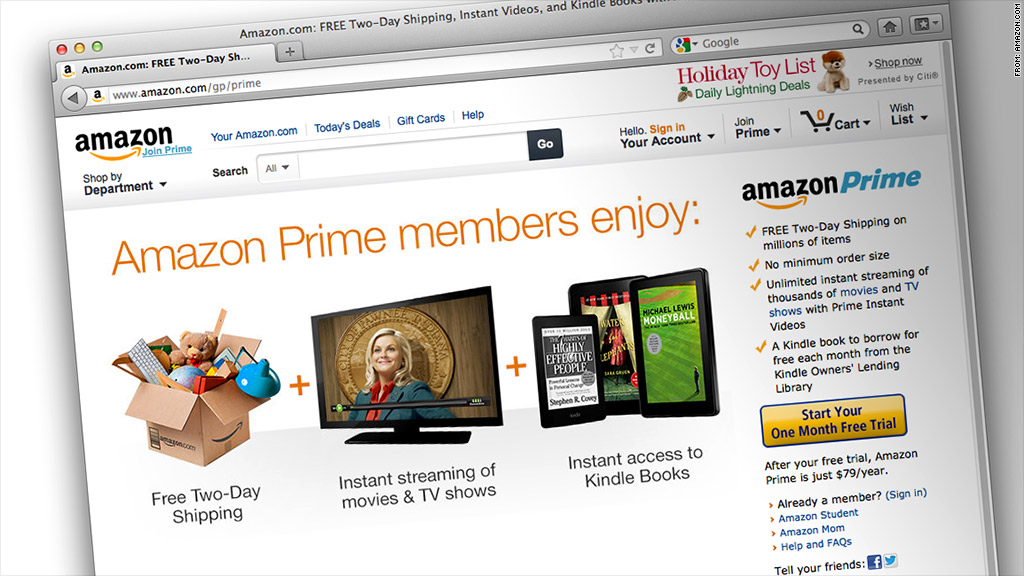 Amazon testing $8 per month price for Prime streaming - Nov. 6, 2012