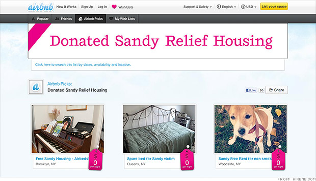 airbnb sandy