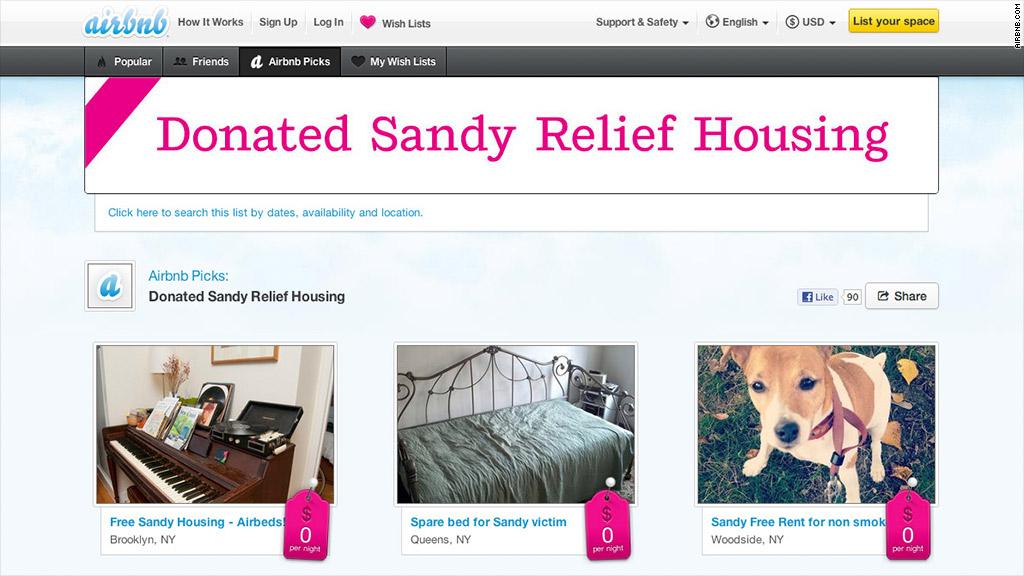 airbnb sandy
