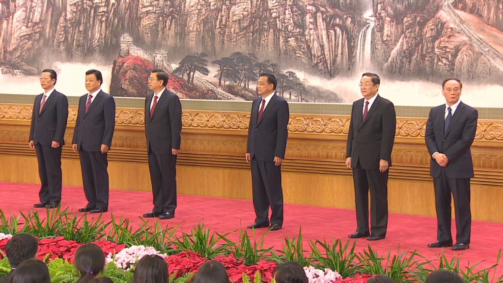 China's new leadership team revealed