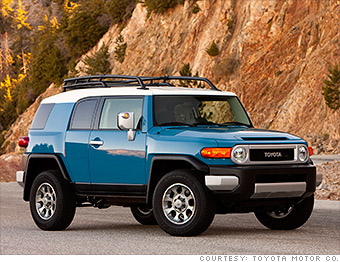 mid size suv toyota fj cruiser best resale value cars cnnmoney. Black Bedroom Furniture Sets. Home Design Ideas
