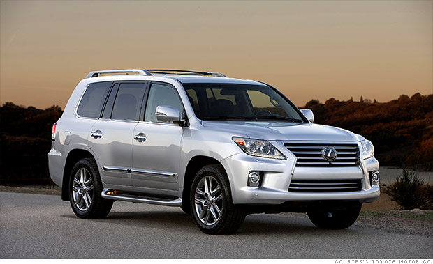 luxury full size suv lexus lx best resale value cars cnnmoney. Black Bedroom Furniture Sets. Home Design Ideas