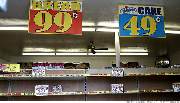 hostess empty shelves