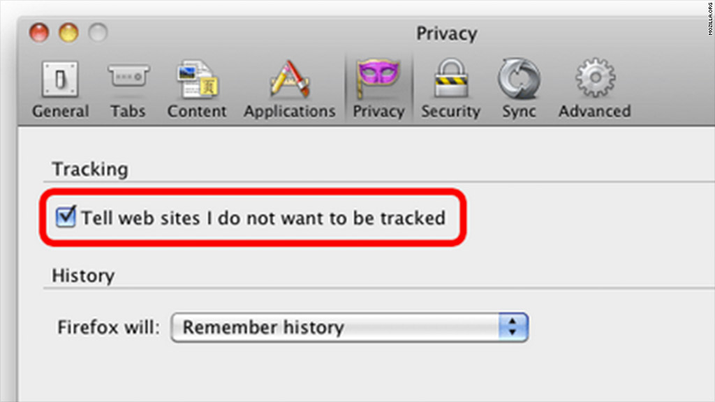 mozilla do not track