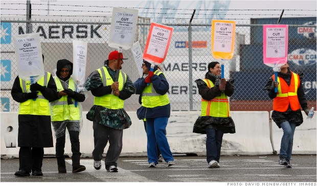 long beach port picket line