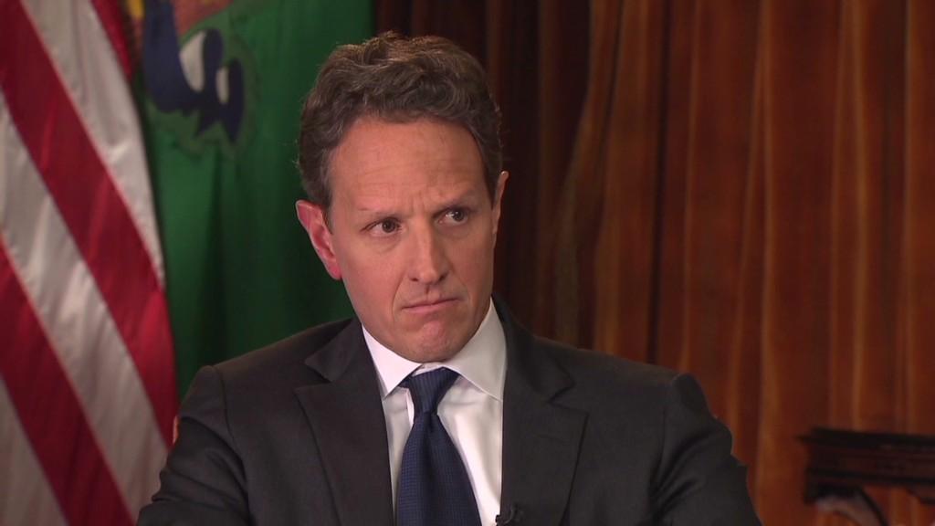 Geithner: 'Far apart' on fiscal cliff