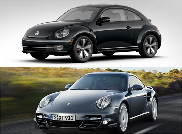 mass market vs luxury - vw beetle turbo porsche 911 turbo