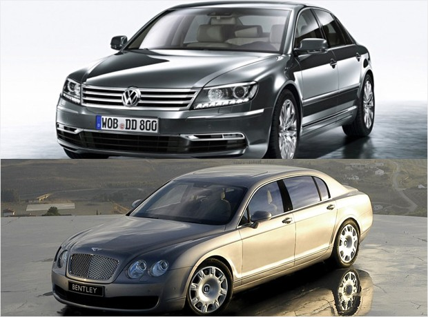 mass market vs luxury - vw phaeton bentley continental