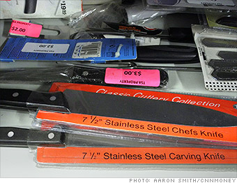 gallery tsa weapons kitchen knives