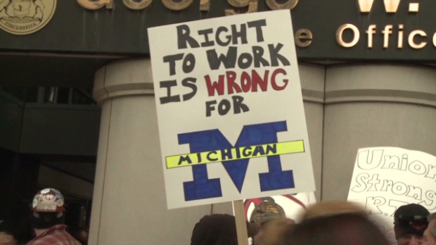 Michigan Governor: 'I'm pro worker'