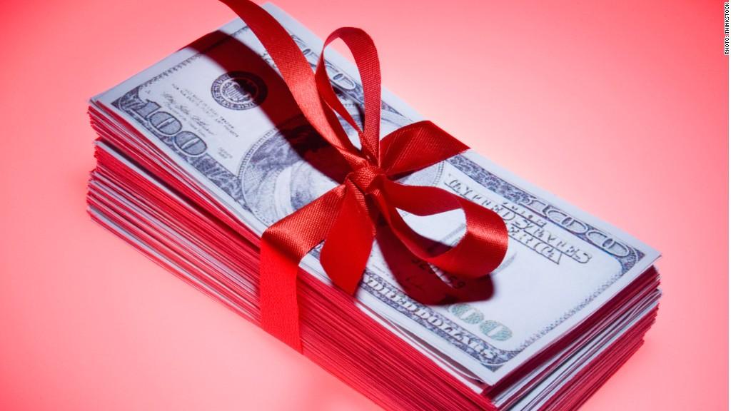 cash stack gift