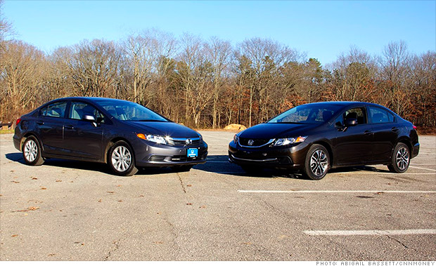 gallery 2012 honda civic vs 2013 honda civic