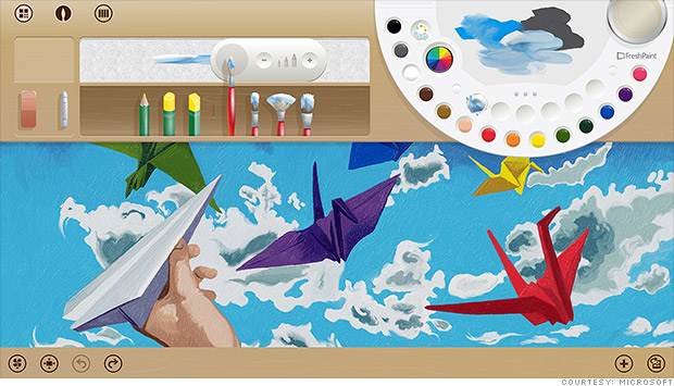 Windows 8's coolest app: Fresh Paint