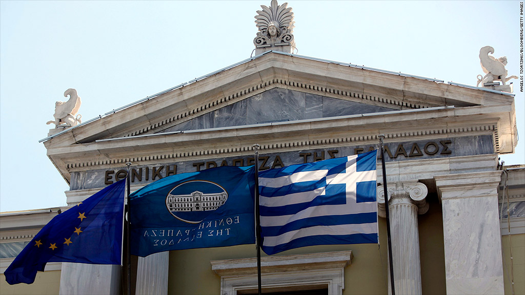 greek flag exit talks