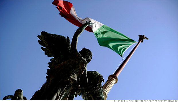 italy flag after monti
