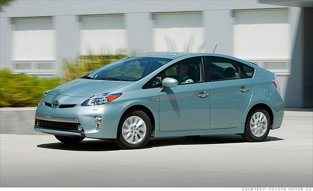 cheapest cars to fuel toyota prius plug in 8 cnnmoney. Black Bedroom Furniture Sets. Home Design Ideas