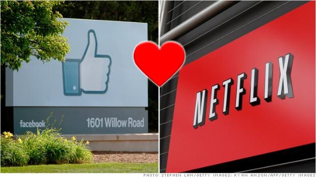 facebook netflix heart