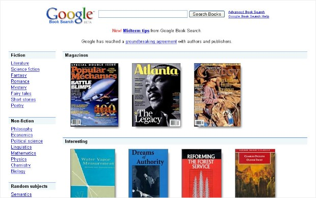 google antitrusts books