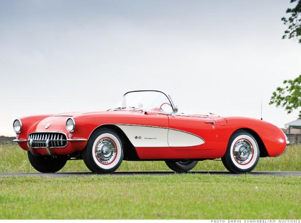 1957 chevrolet corvette fuelie 10 most valuable corvettes cnnmoney. Black Bedroom Furniture Sets. Home Design Ideas
