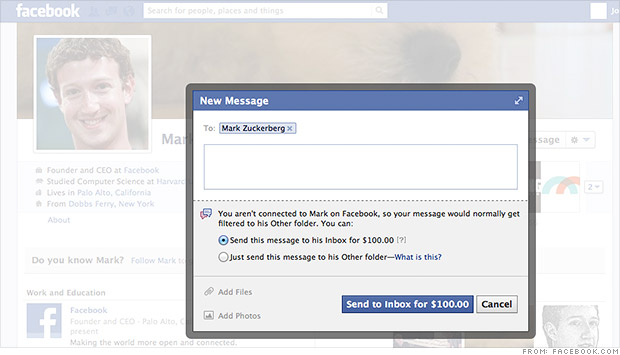 facebook messaging mark zuckerberg