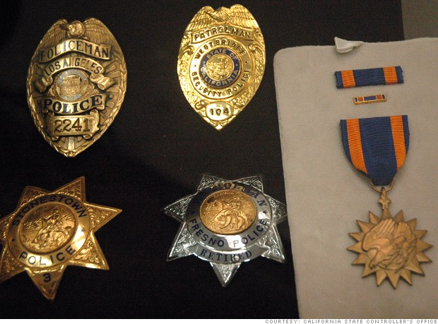 unclaimed property badges