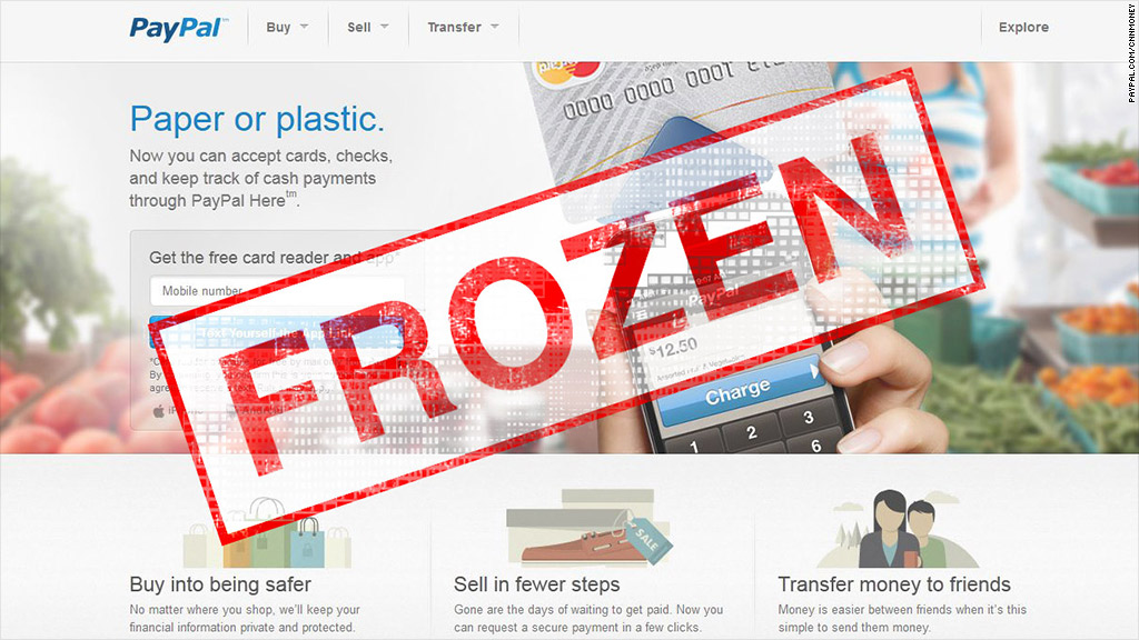 paypal frozen funds