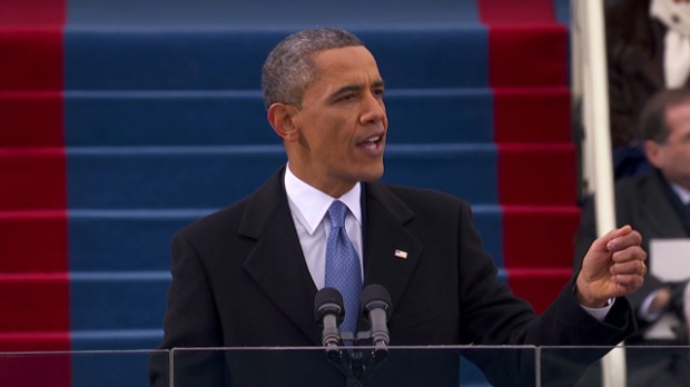 Obama inaugural speech: Economy in 99 secs