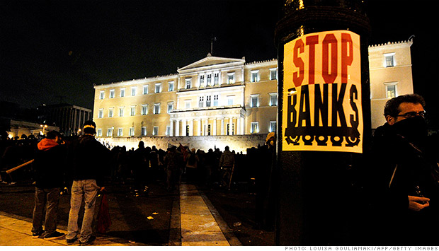 eu bank protests