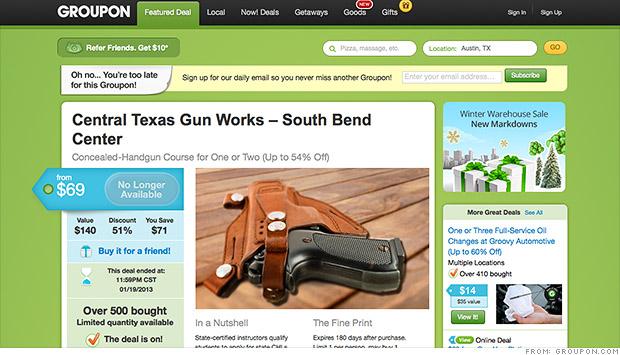groupon gun deals
