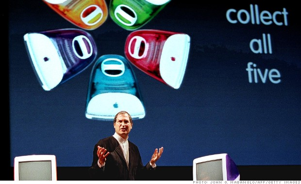 steve jobs 1999 imac colors