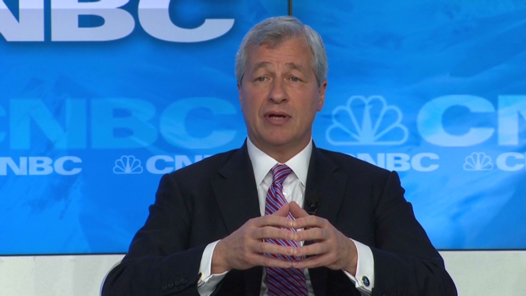 Dimon defends banking in Davos