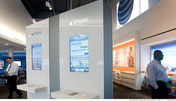 at&t iphone sales