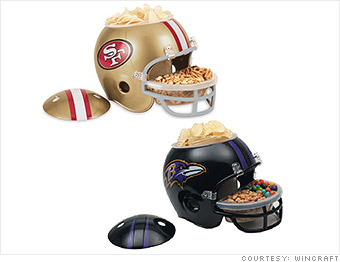 super bowl snack helmets