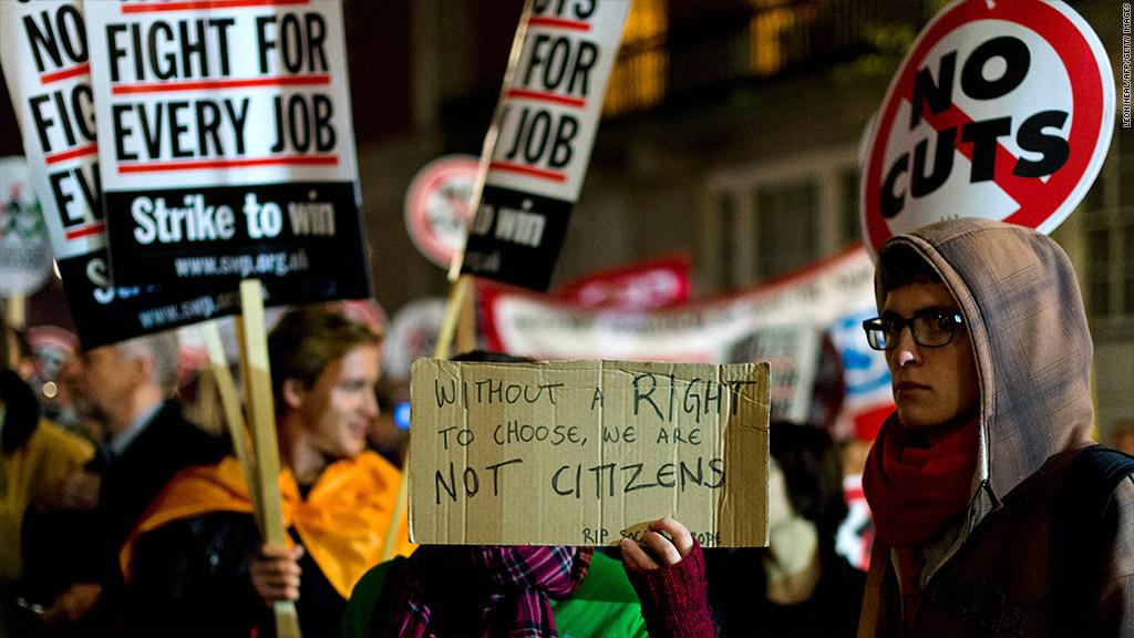 anti austerity europe protest