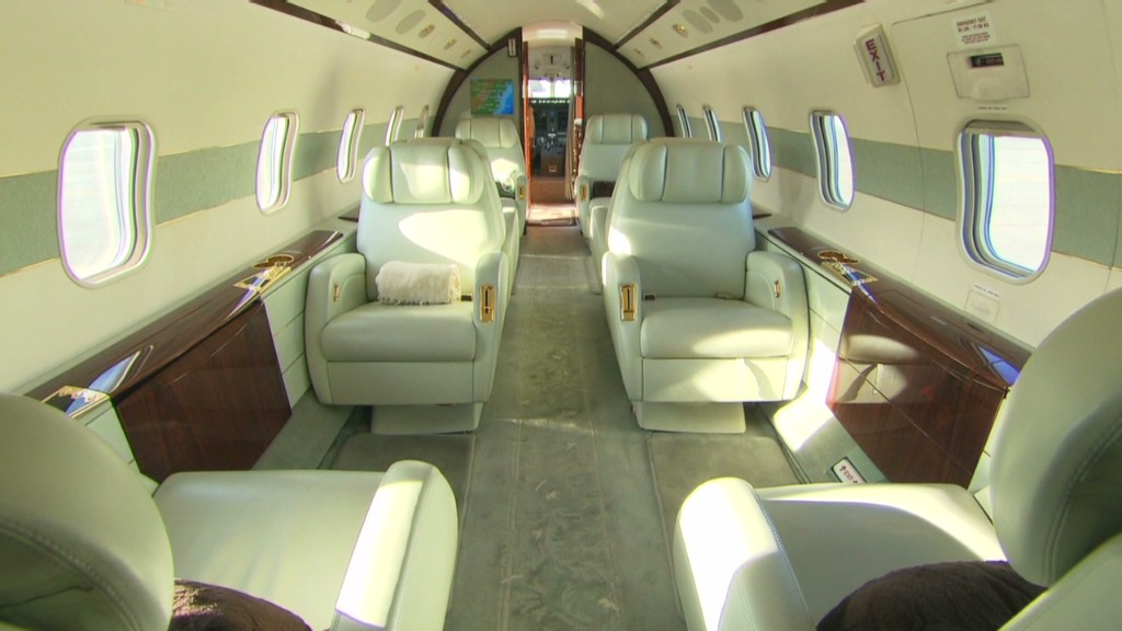 An app to book a private jet ... for less