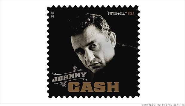 Johnny Cash Postage Stamp