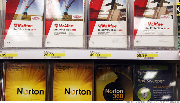antivirus software mcafee norton