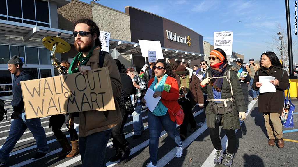 walmart black friday protests