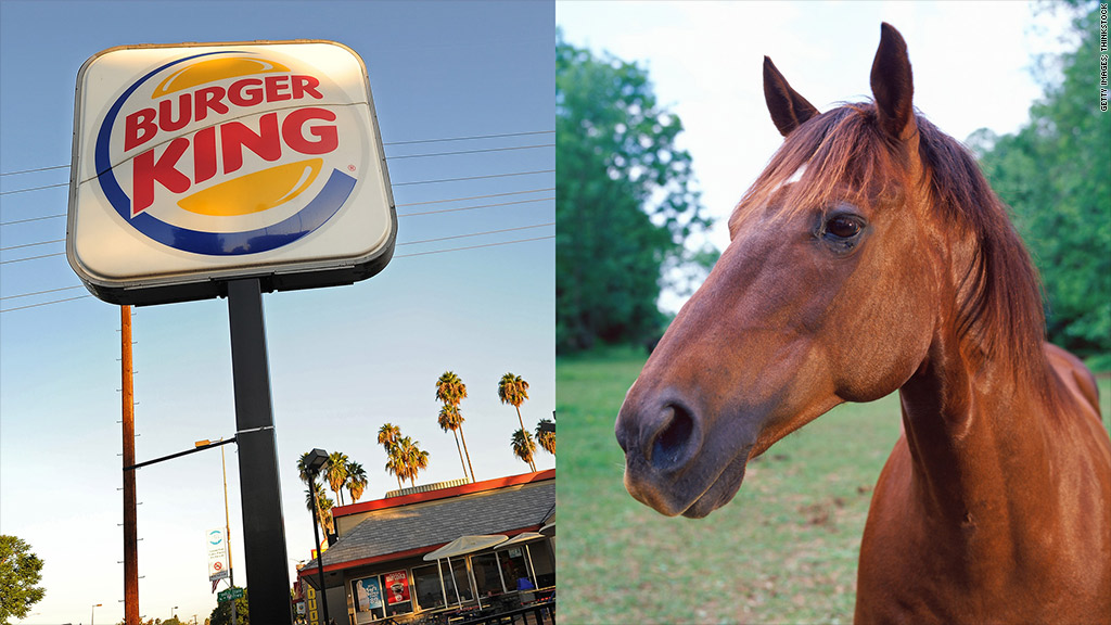 burger king horse meat