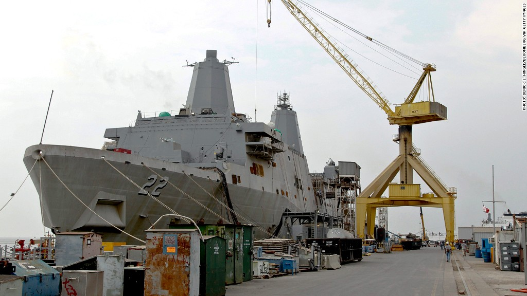 pentagon budget cuts shipyards