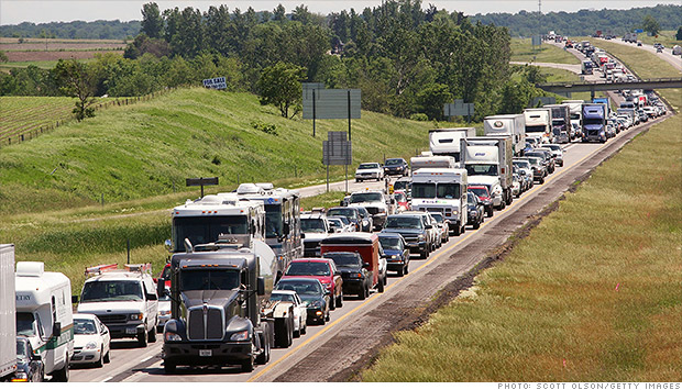 iowa traffic jam