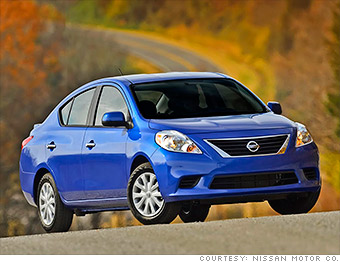nissan versa 10 cheapest new cars in america cnnmoney. Black Bedroom Furniture Sets. Home Design Ideas