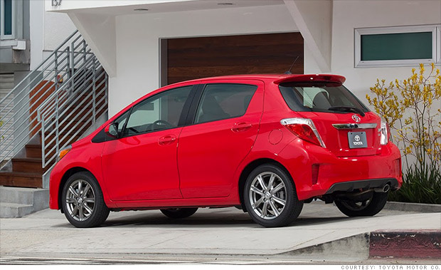 toyota yaris 10 cheapest new cars in america cnnmoney. Black Bedroom Furniture Sets. Home Design Ideas