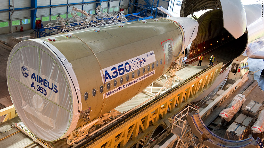airbus a350 construction