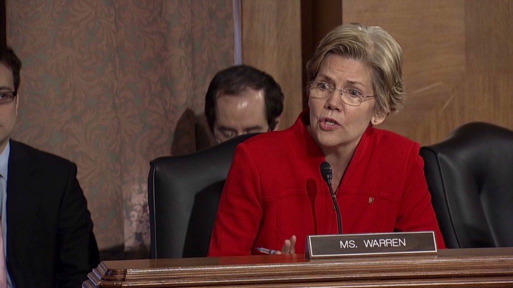 Elizabeth Warren lashes out at regulators